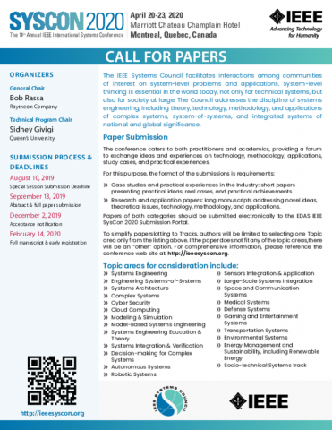 Call for Papers | SysCon 2020